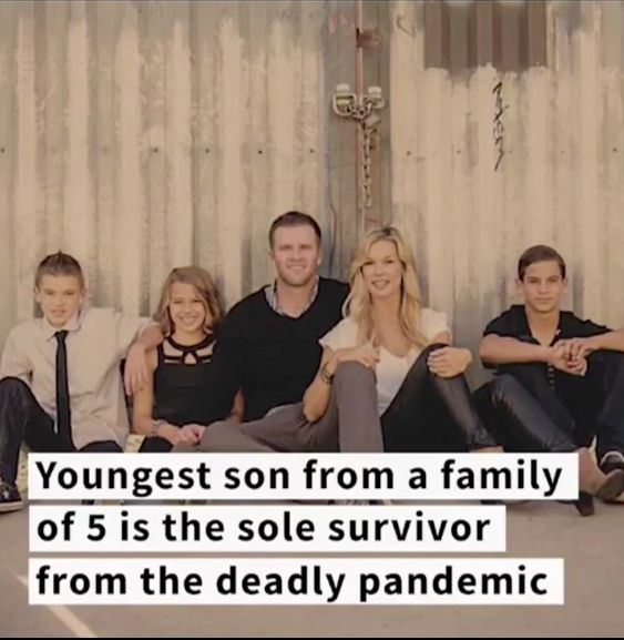 A screenshot of how the Ancich's family photo was used in the Facebook ad.