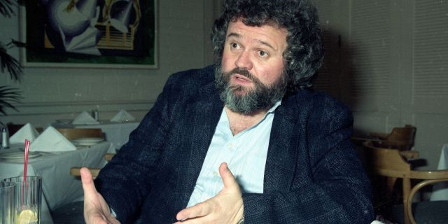 FILE - This 1990 file photo shows director of photography Allen Daviau speaking during an interview in Los Angeles. Daviau, who shot three of Steven Spielberg's films including 'E.T. The Extra-Terrestrial,' died Tuesday, April 14, 2020 at age 77.
