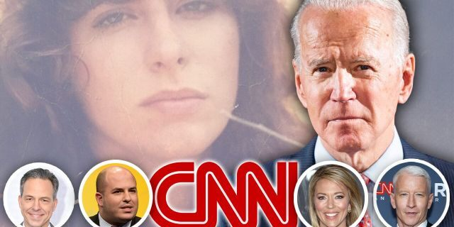 CNN personalities, pictured below, have avoided on-air reports about Tara Reade's sexual-assault claim against former Vice President Joe Biden, above.