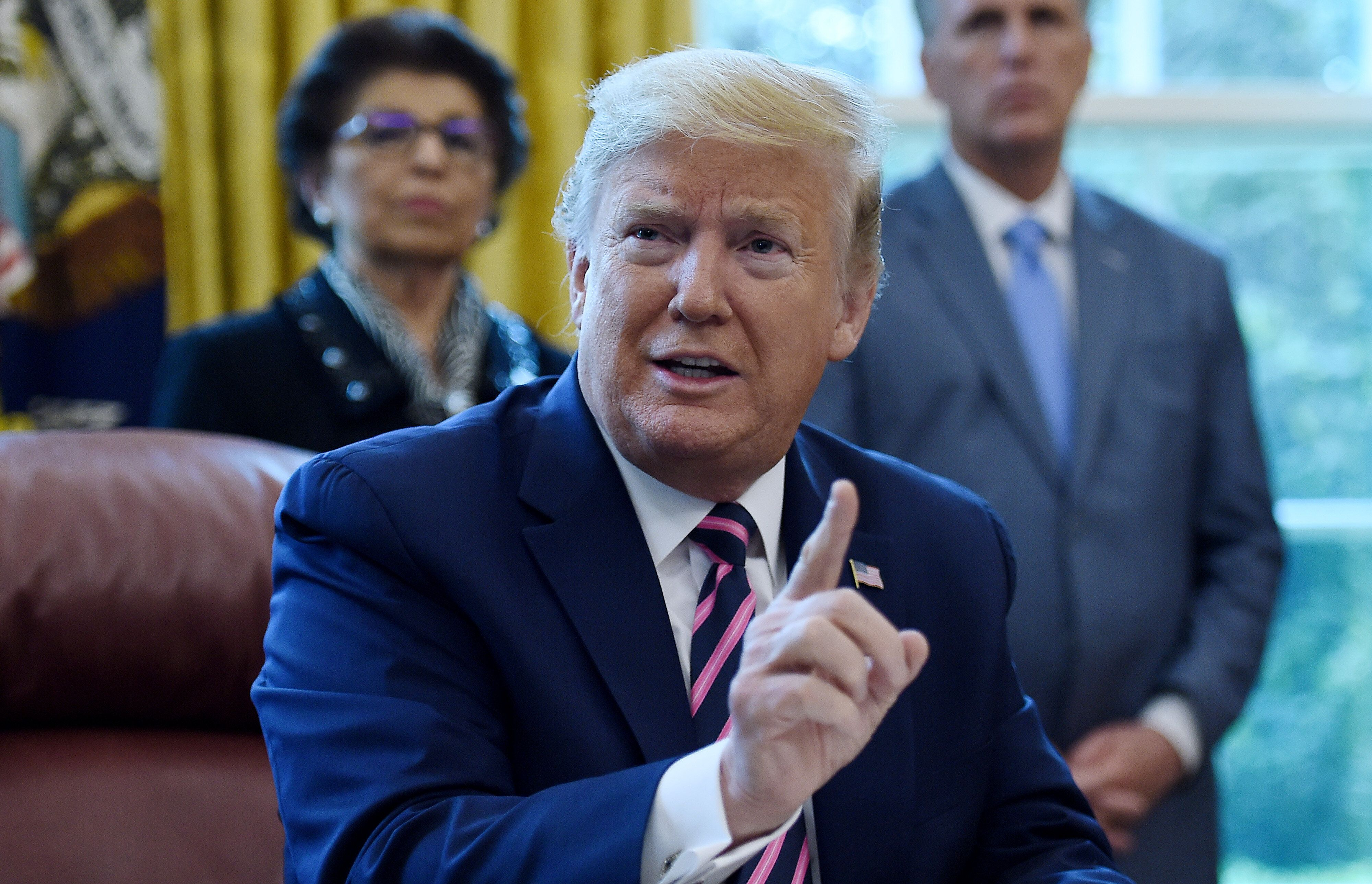 President Donald Trump says that the coronavirus has outsmarted antibiotics — which aren't used to treat viruses.