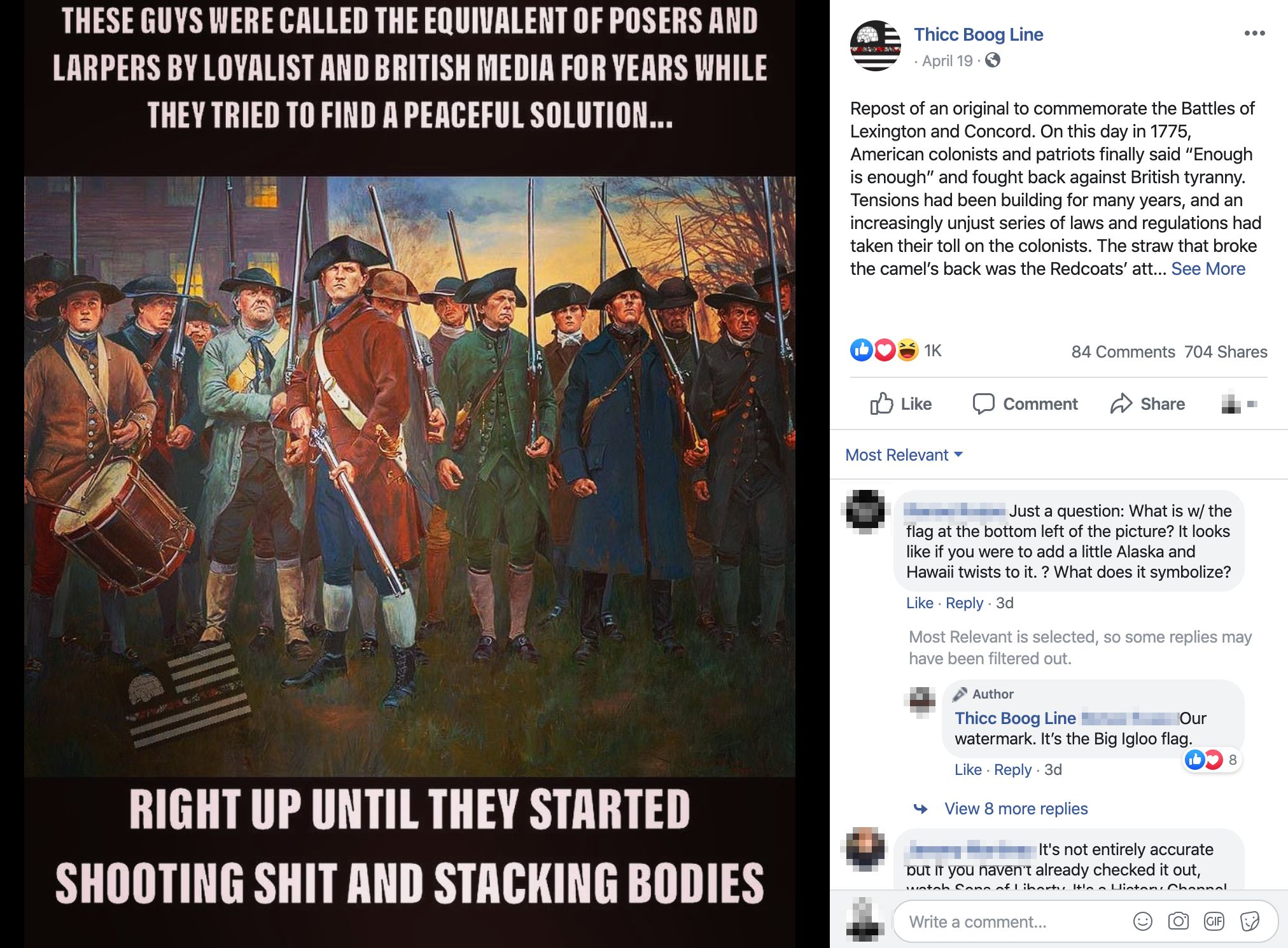 """A meme posted to the Facebook page of a group devoted to the """"boogaloo,"""" a far-right term used to describe a coming civil war"""