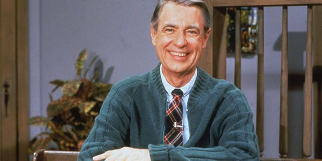 """Portrait of American educator and television personality Fred Rogers (1928 - 2003) of the television series """"Mister Rogers' Neighborhood,"""" circa 1980s."""