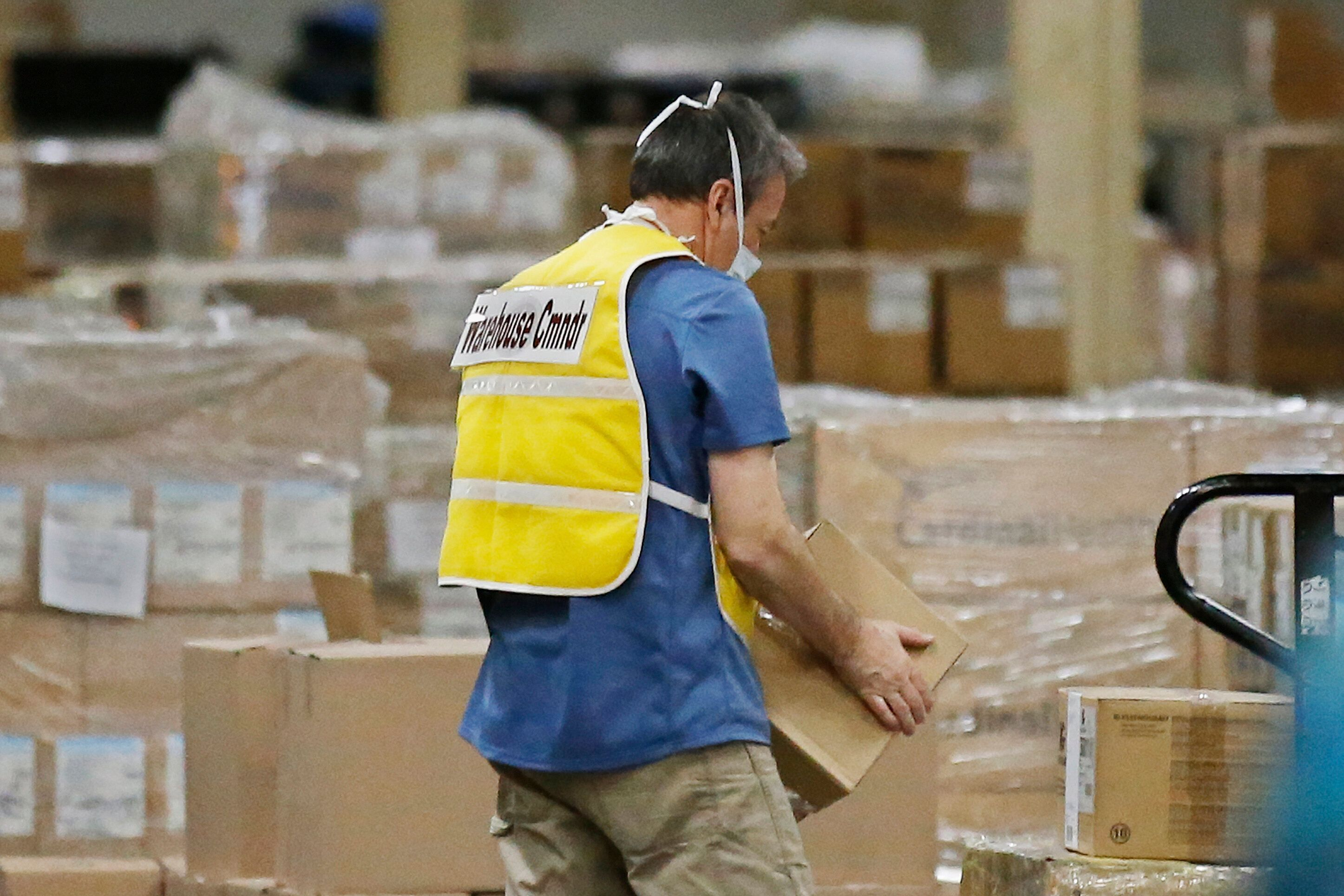Oklahoma's Strategic National Stockpile warehouse contains 4 million pairs of gloves, 120,000 gowns, 173,000 face shields and