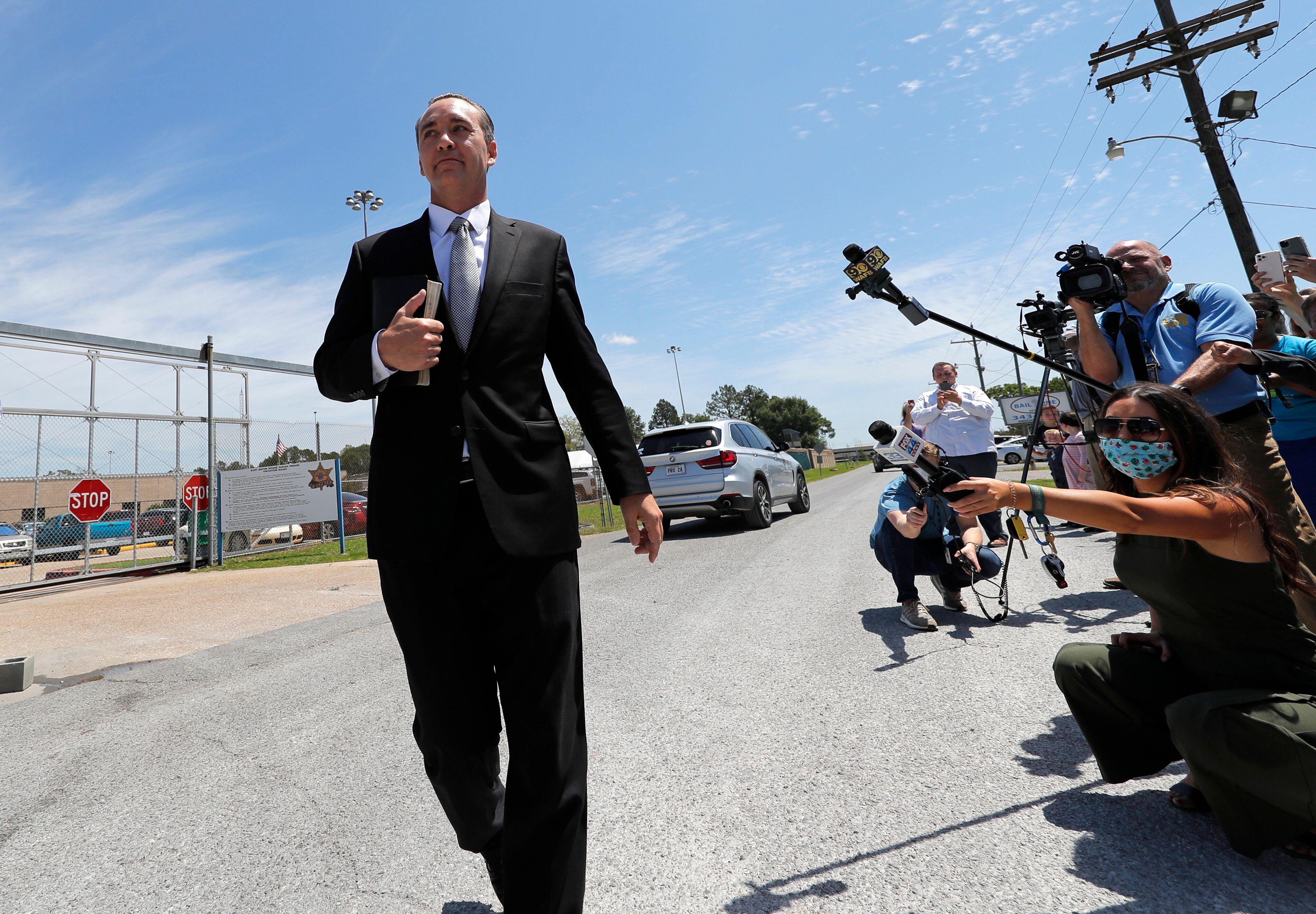 Spell leaves East Baton Rouge Parish jail after posting bond.