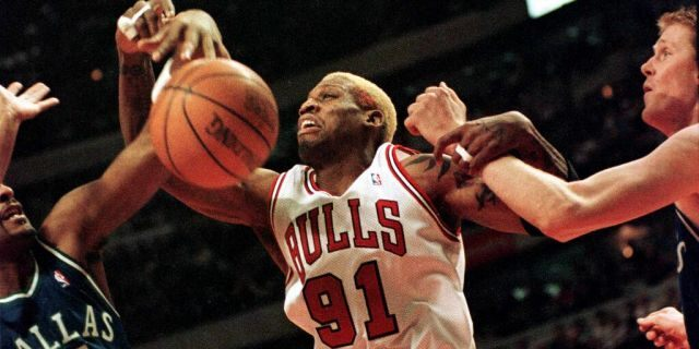 Rodman starred at an NAIA school. (VINCENT LAFORET/AFP via Getty Images)