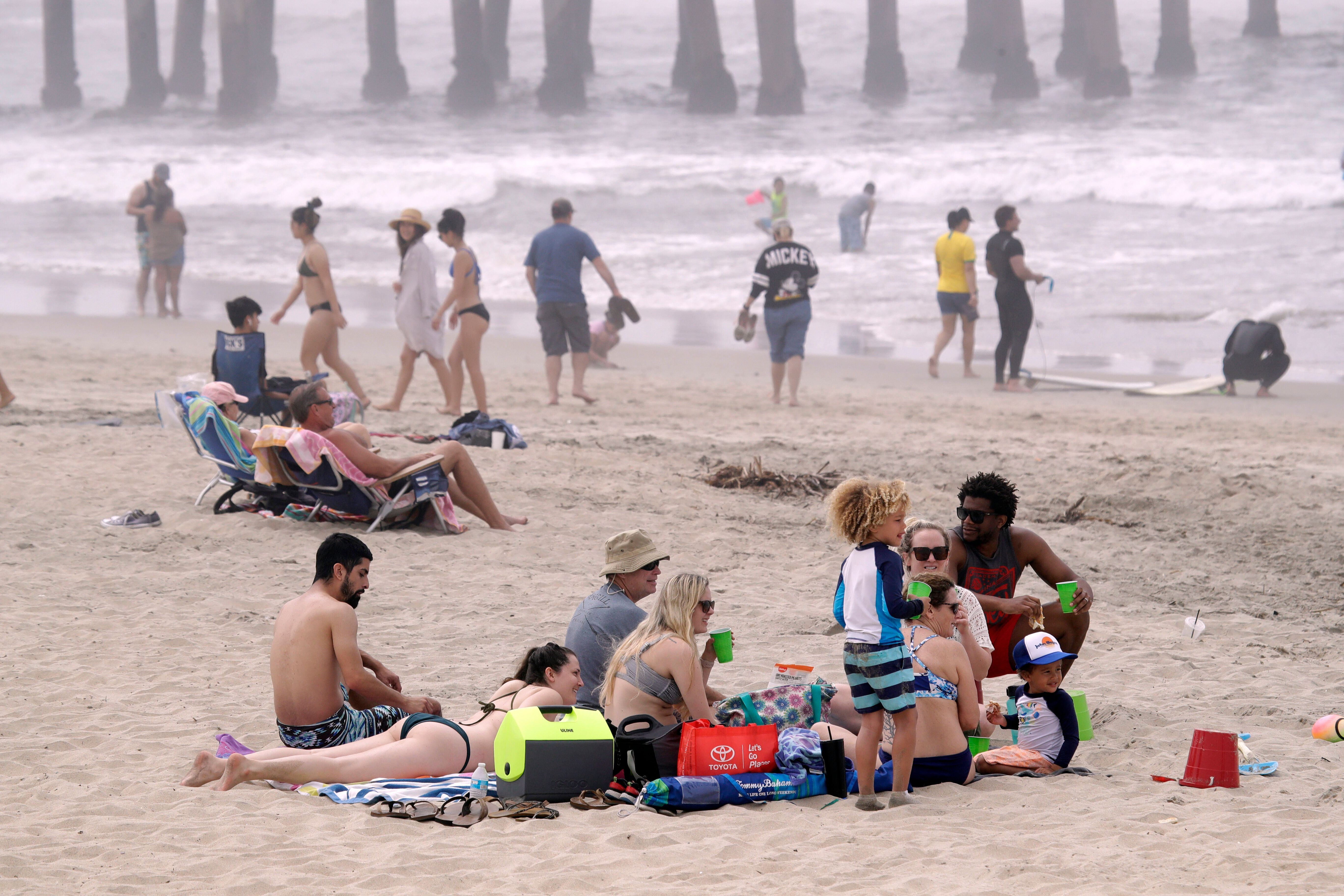 Tens of thousands of people flocked to the seashore last weekend during a heatwave despite Gov. Gavin Newsom's stay-at-home o