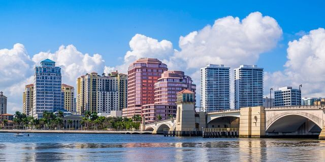 The city of West Palm Beach in Florida is one of the wettest in the country.