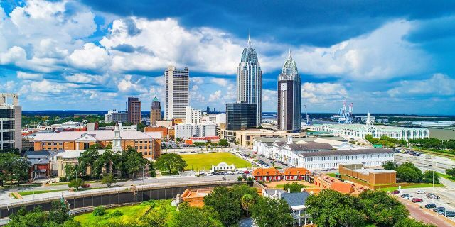 Mobile Alabama, sees on, average, 65.28 inches of precipitation each year, according to NOAA.
