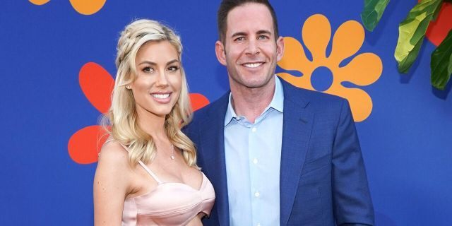 Tarek El Moussa, right, and Heather Rae Young attend the premiere of HGTV's 'A Very Brady Renovation' at The Garland Hotel on September 05, 2019, in North Hollywood, Calif. (Photo by Rachel Luna/Getty Images)