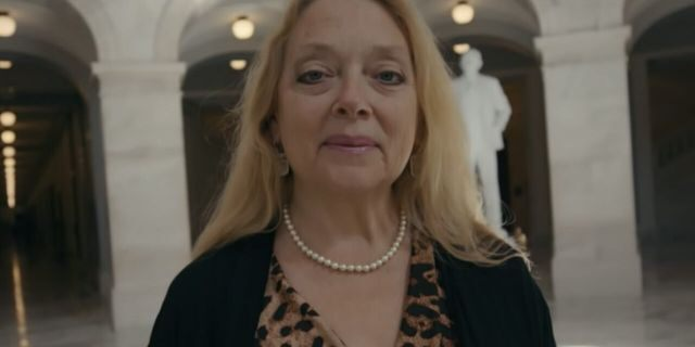 Big Cat Rescue founder Carole Baskin appears in a scene from 'Tiger King: Murder, Mayhem and Madness.'