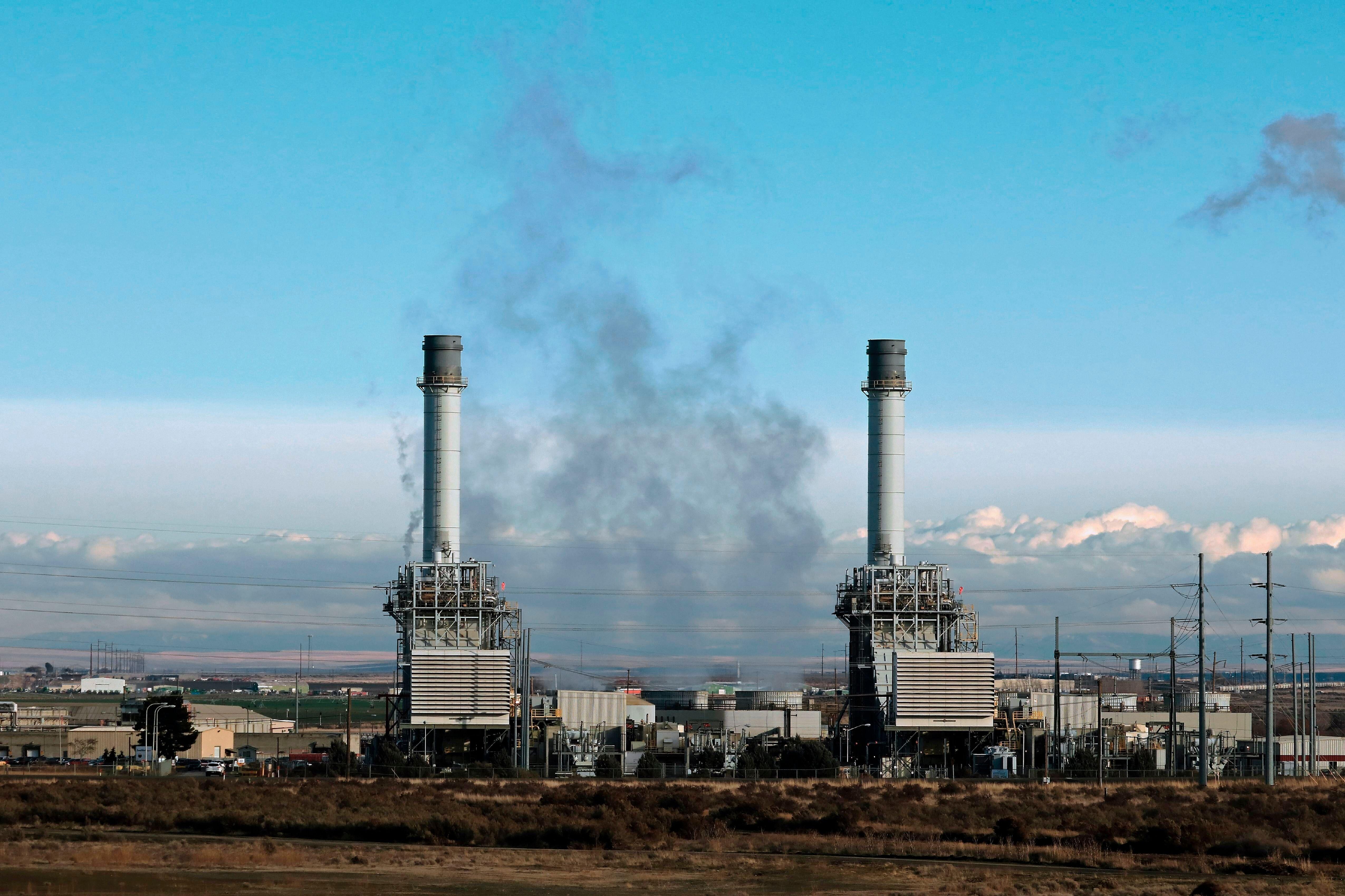 A gas-burning power plant in Oregon.