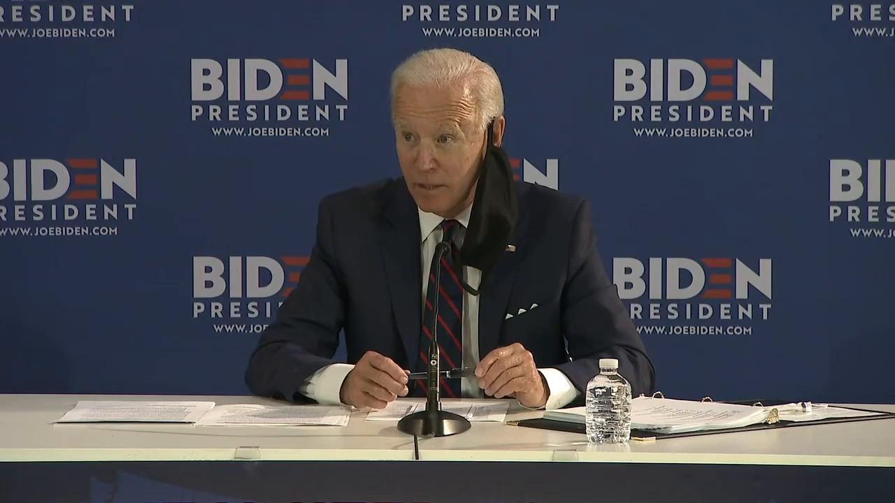 Biden calls out Trump's lack of leadership over coronavirus response