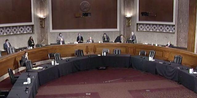A socially-distanced Senate Judiciary Committee Hearing for Justin Walker. (Senate Judiciary Committee)