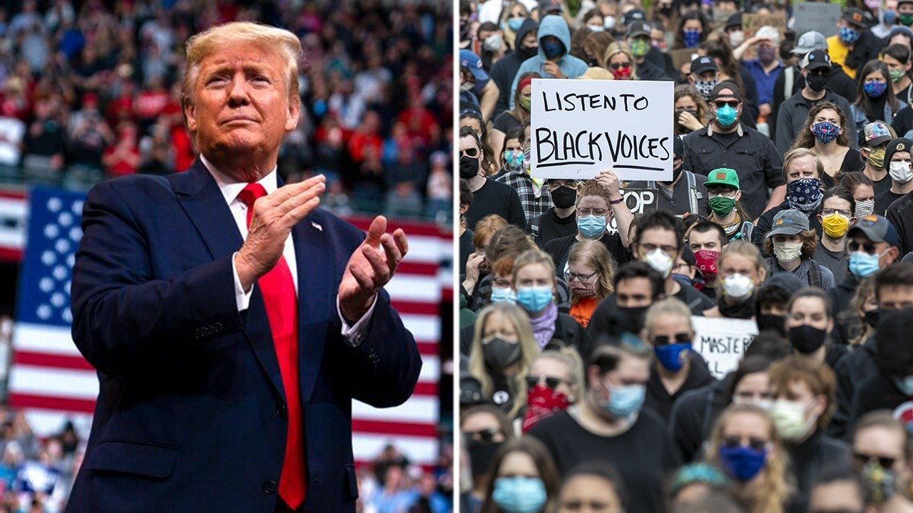 Are there different health risks associated with Trump rally versus protests?