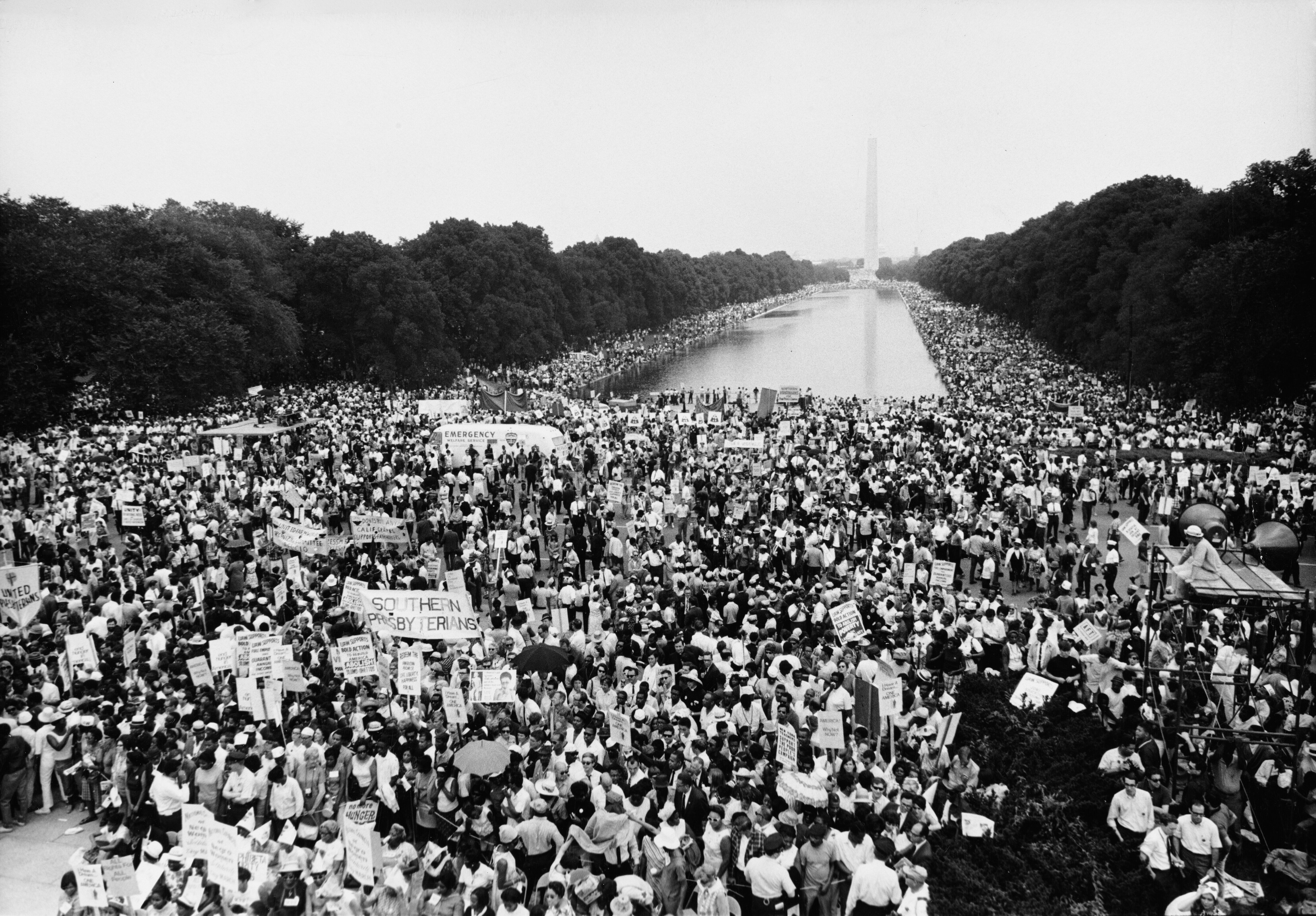 An estimated 50,000 people joined in support of the Poor People's Campaign in Washington, D.C., on June 19, 1968.