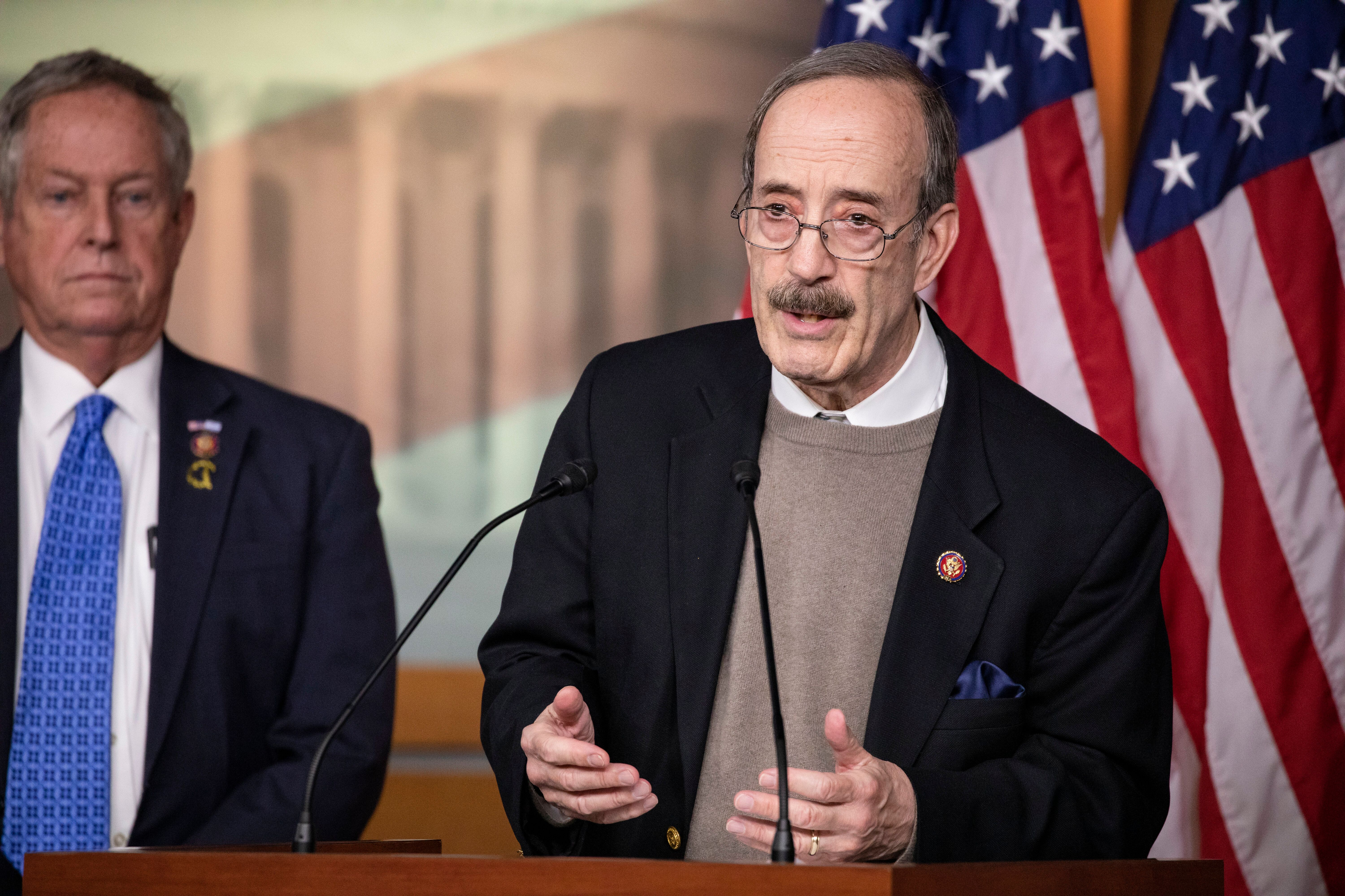 Rep. Eliot Engel (D-N.Y.), a 16-term incumbent, has elicited criticism from Jamaal Bowman for his absence from the district d