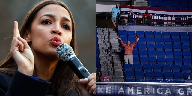 U.S. Rep. Alexandria Ocasio-Cortez, D-N.Y., claims she knows why many seats were empty at President Trump's rally in Tulsa, Okla., on Saturday night.