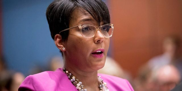 In this July 17, 2019 file photo shows Atlanta Mayor Keisha Lance Bottoms speaks during a Senate Democrats' Special Committee on the Climate Crisis on Capitol Hill in Washington. (AP Photo/Andrew Harnik)