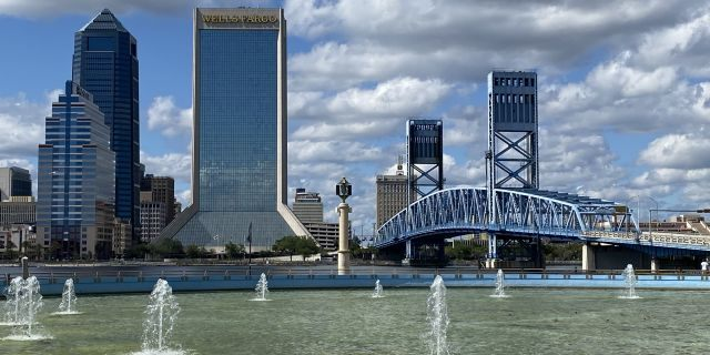 A look at the Jacksonville skyline off the shores of the St. Johns River (Robert Sherman, Fox News)