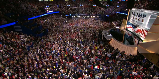 An aerial view of the 2016 Republican National Convention in Cleveland, Ohio (Fox News).