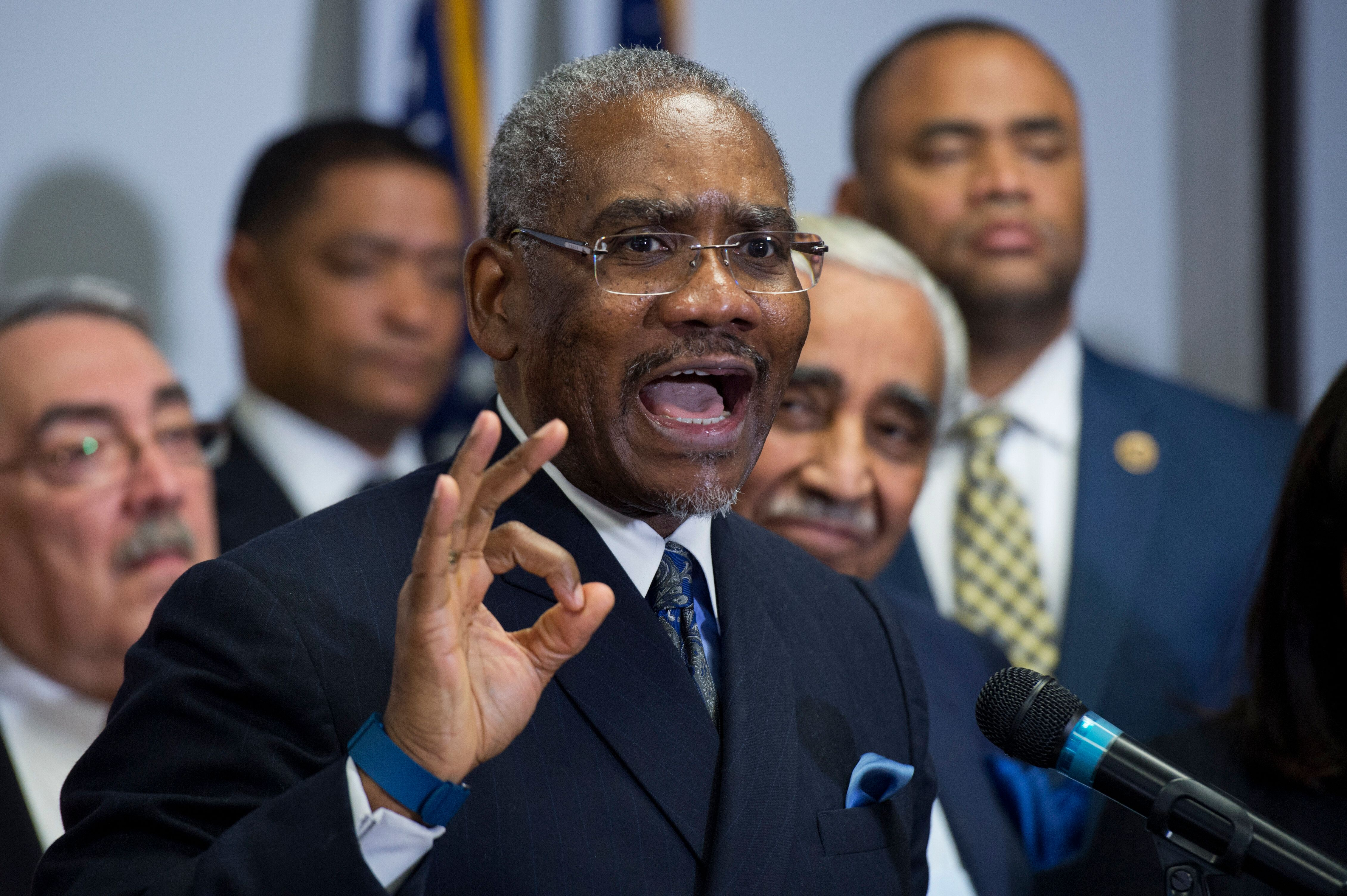 Rep. Gregory Meeks (D-N.Y.), chairman of the Congressional Black Caucus PAC, has defended the decision to endorse Rep. Eliot