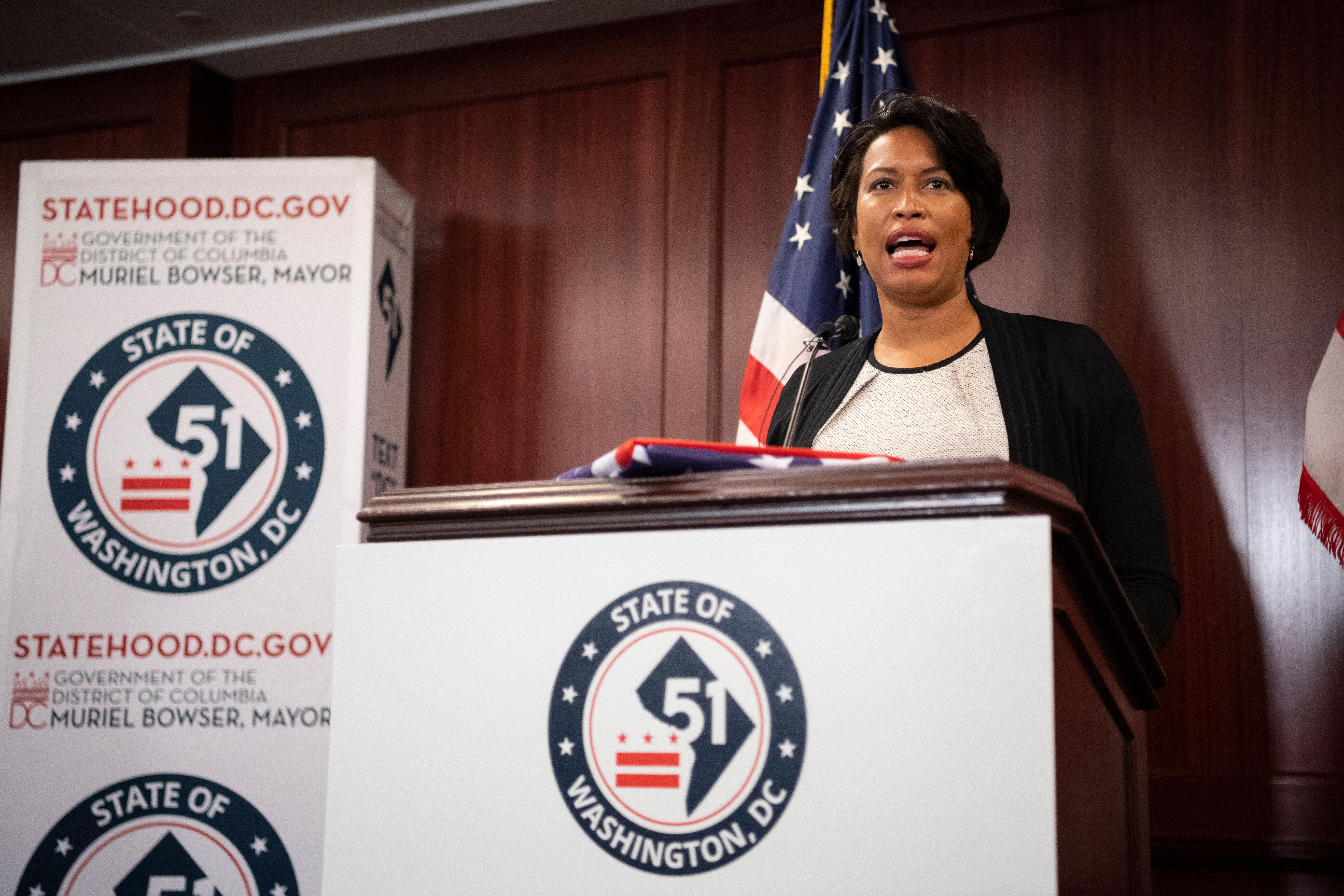 District of Columbia Mayor Muriel Bowser at a June 16 news conference in the U.S. Capitol on D.C. statehood.
