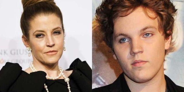 Lisa Marie Presley (left) and Benjamin Keough.