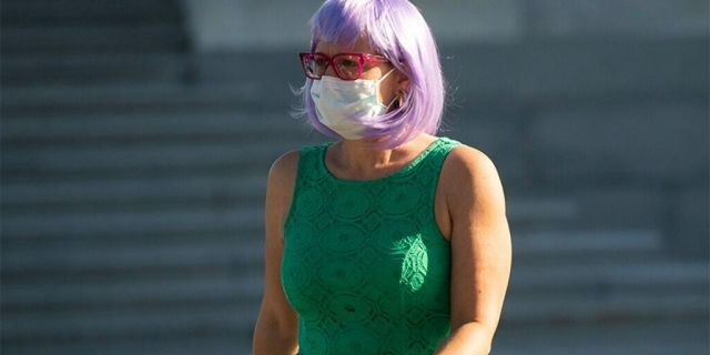 During the coronavirus pandemic, Sen. Kyrsten Sinema, D-Ariz., has been making a statement wearing colorful wigs as she fulfills her political duties.