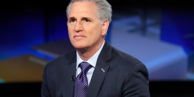 House Majority Leader Kevin McCarthy, R-Calif., is seen in New York City, April 23, 2018. (Getty Images)