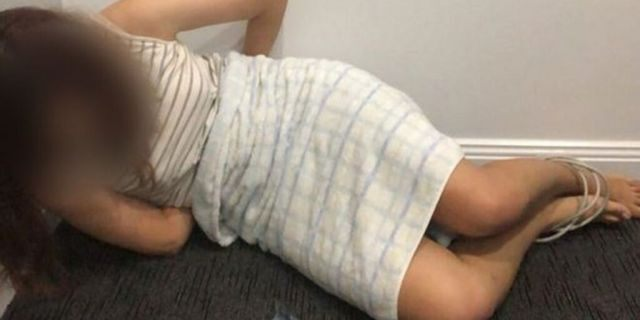 Scammers convince Chinese students to take photos of themselves bound and gagged in order to avoid being deported or arrested. (New South Wales Police)