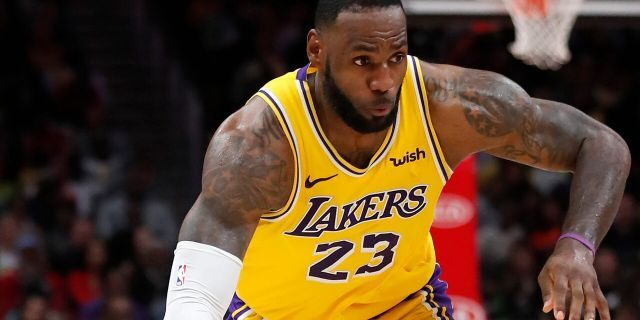 Los Angeles Lakers forward LeBron James (23) drives against the Atlanta Hawks in the second half of an NBA basketball game Sunday, Dec. 15, 2019, in Atlanta. (AP Photo/John Bazemore)