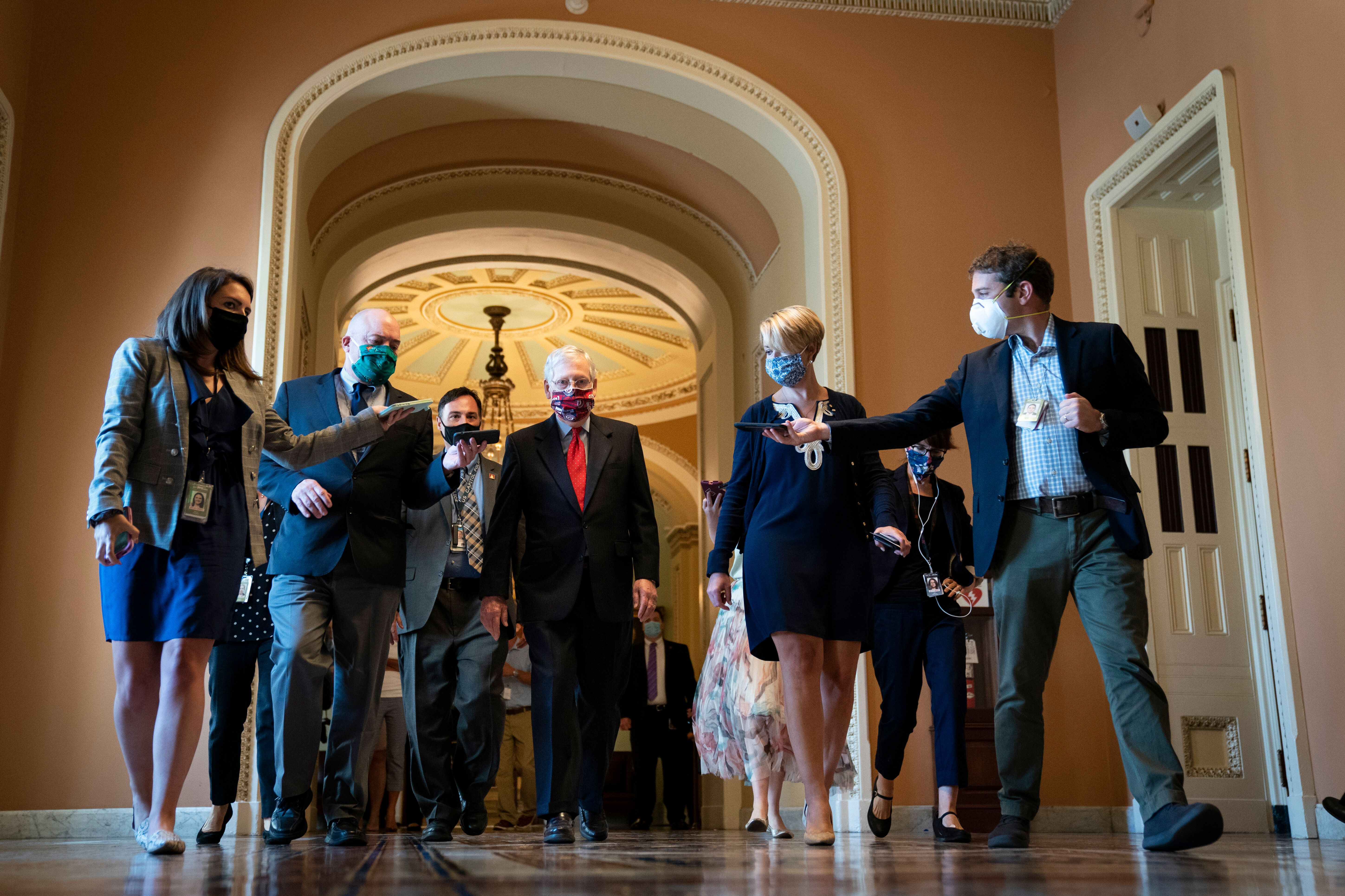 The Senate left town Thursday with no progress on a deal to extend federal unemployment benefits. (Photo by Drew Angerer/Gett