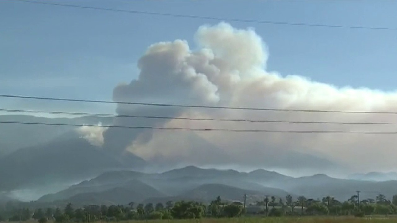 Massive wildfire raging east of Los Angeles