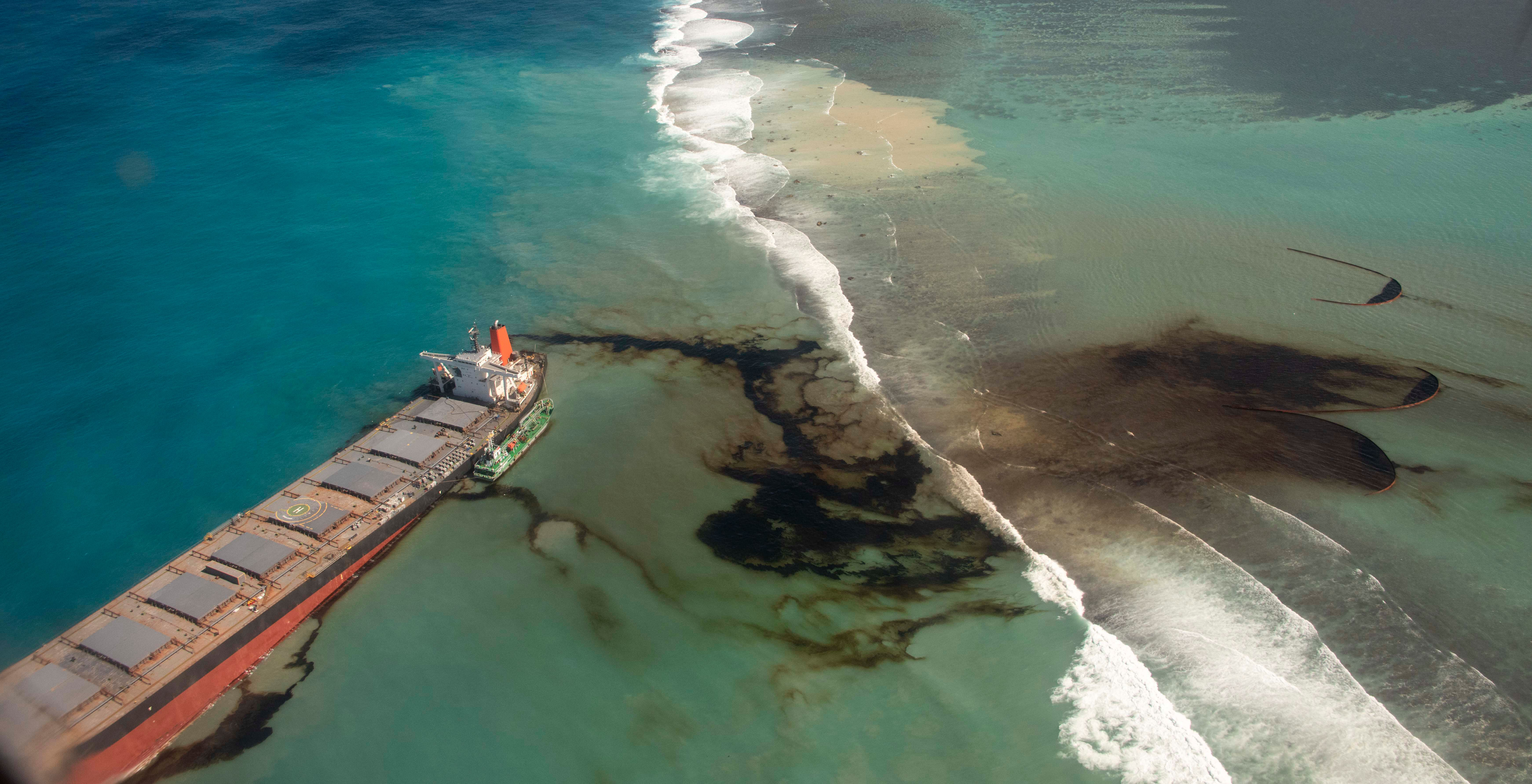 It was estimated the tanker has already leaked about 1,300 metric tons of oil into the ocean.
