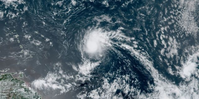 Tropical Storm Josephine swirls over the Atlantic Ocean on Thursday, Aug. 13, 2020.