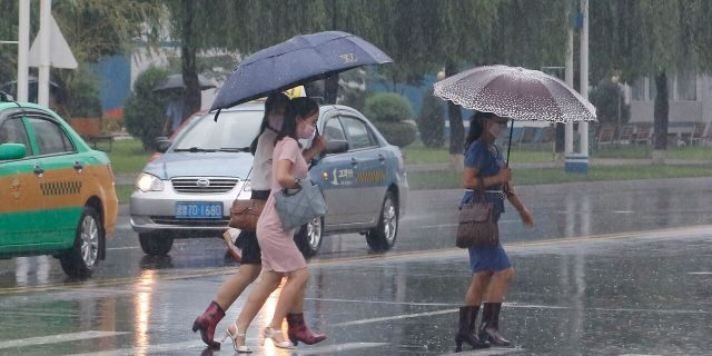 North Korea says torrential rains have lashed the country, prompting outside worries about possible big damages in the impoverished country.
