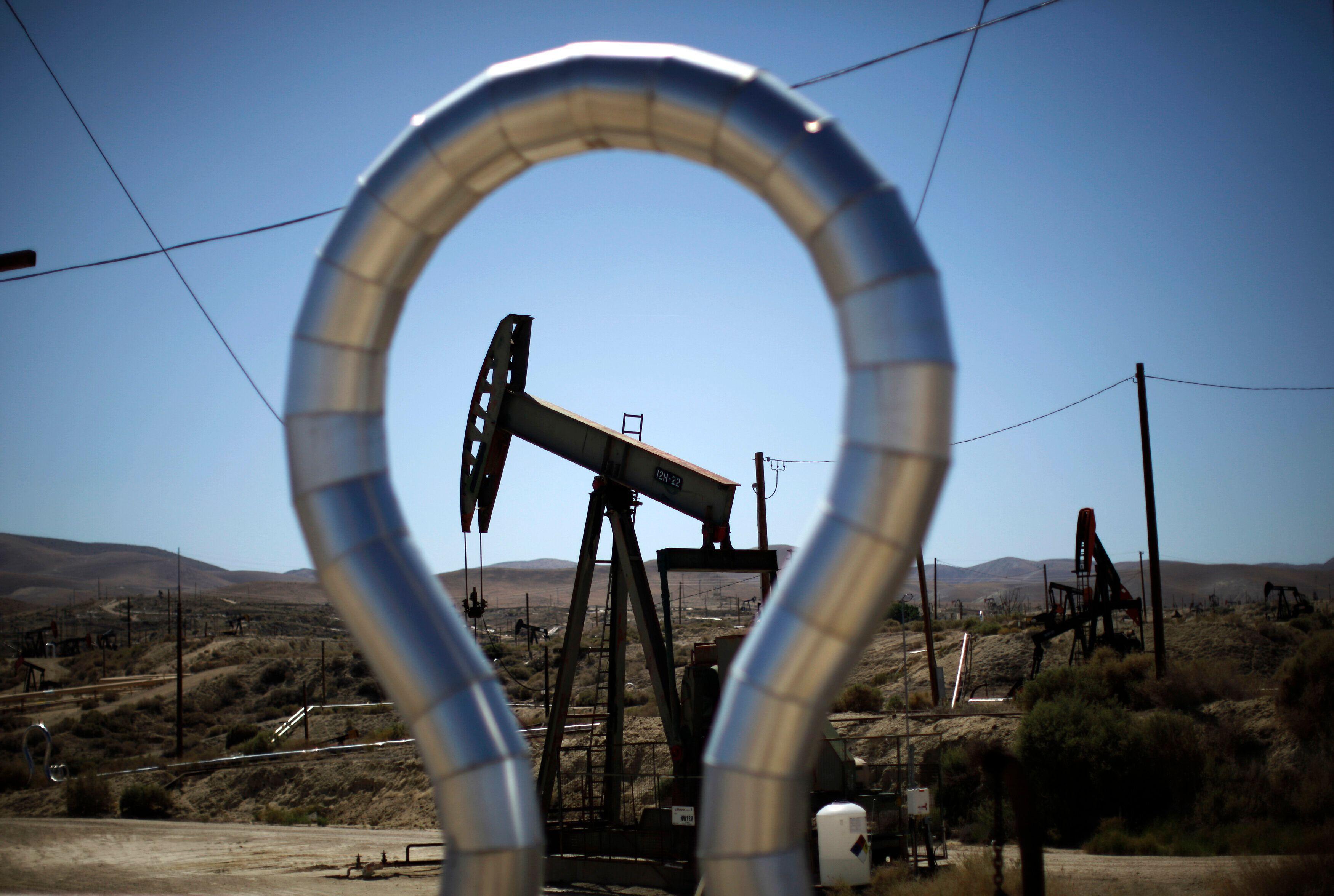 A fracking well.