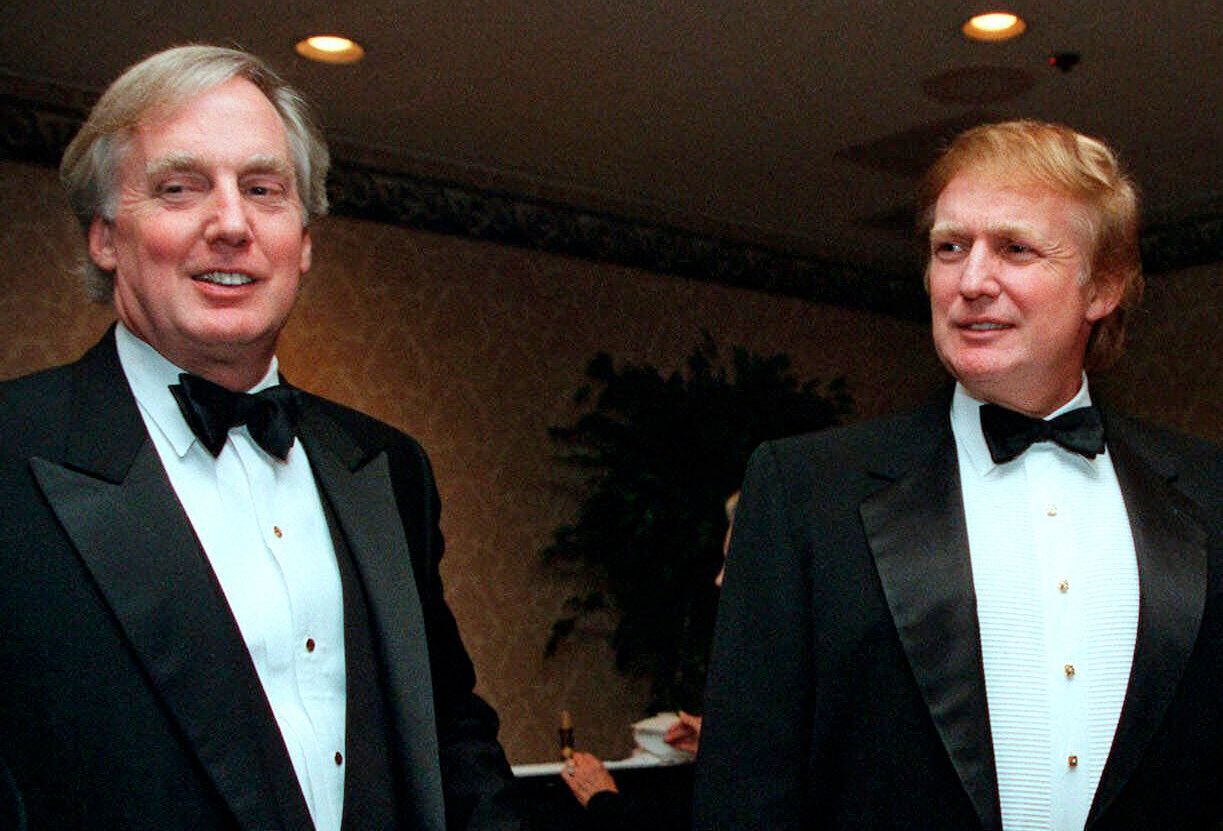 Robert Trump, seen left of his brother Donald Trump in 1999, died Saturday after being hospitalized in New York, the presiden