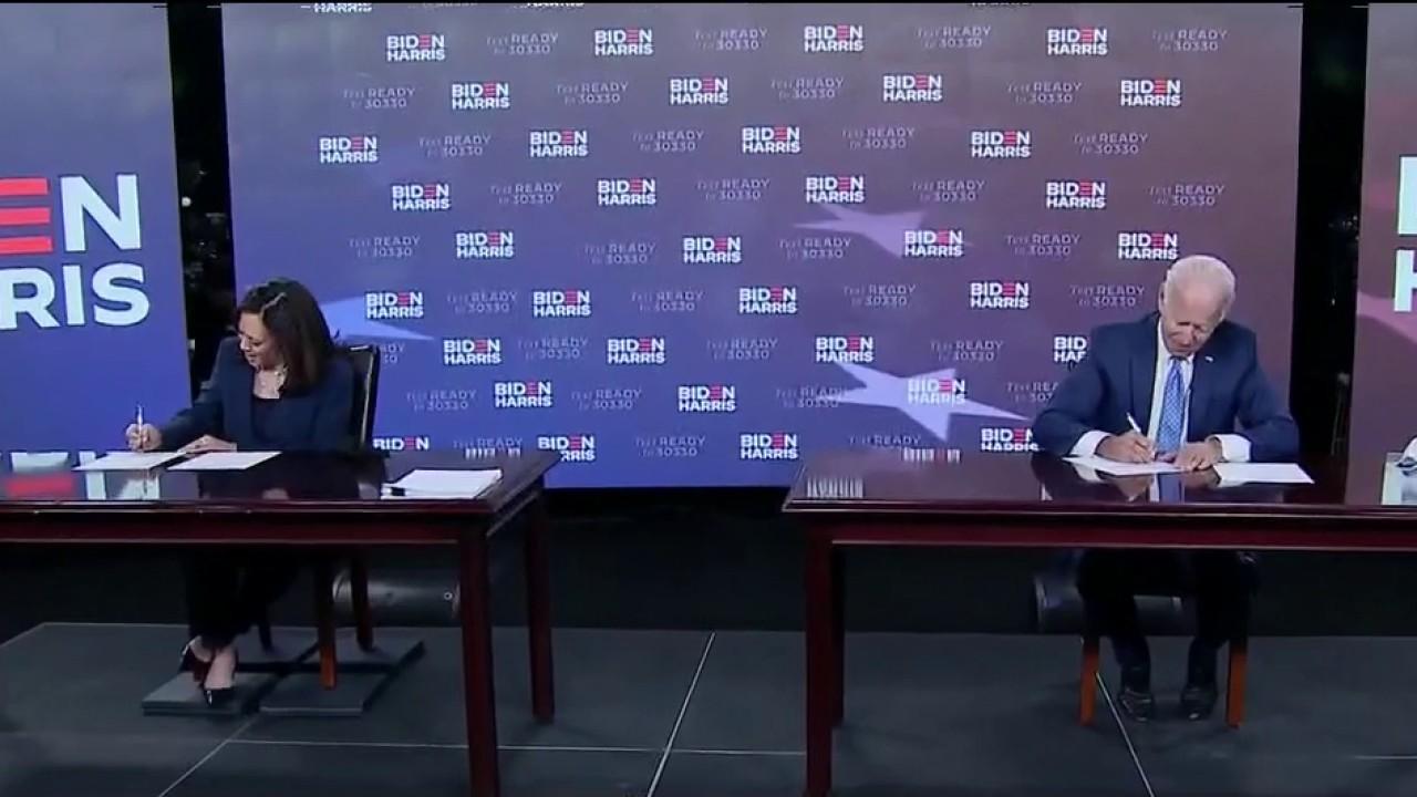 Joe Biden, Kamala Harris file paperwork ahead of convention
