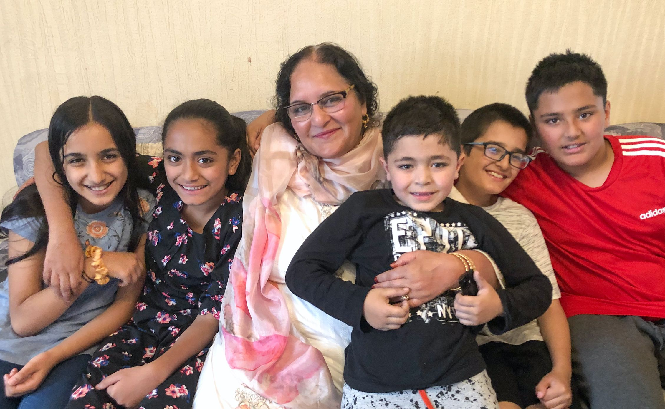 Pervaze Bashir with some of her 21 grandchildren