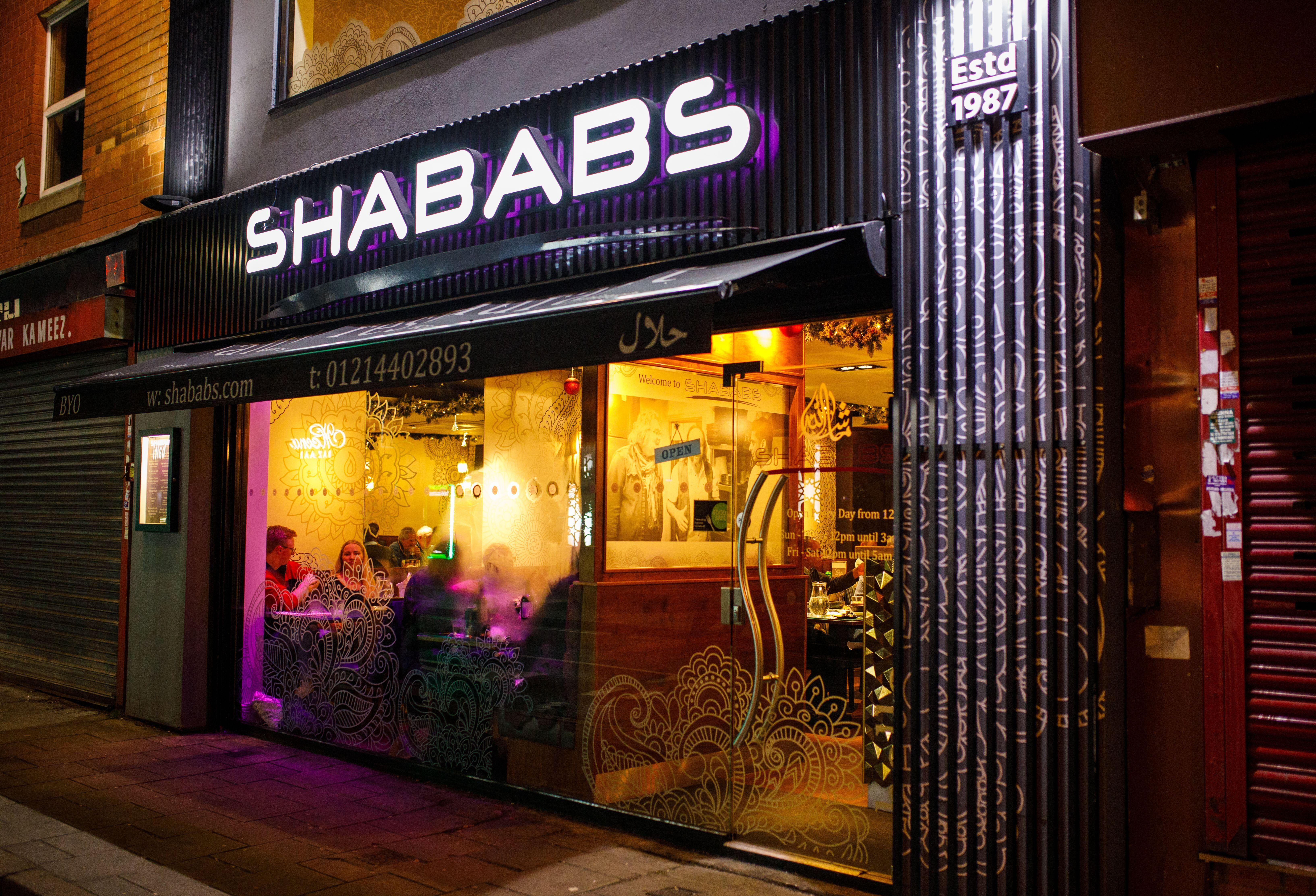 Shabab's restaurant on Ladypool Road
