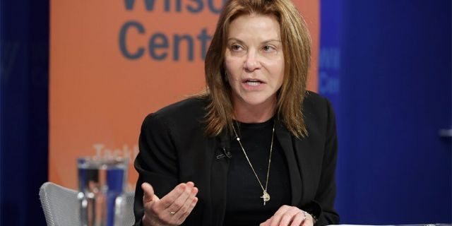 Then-Google Vice President of Public Policy Susan Molinari participates in a discussion on Zika at the Woodrow Wilson Center May 24, 2016 in Washington, D.C. (Photo by Chip Somodevilla/Getty Images)