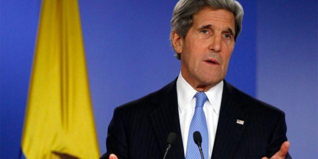 Aug. 12, 2013: Then Secretary of State John Kerry in Bogota, Columbia.