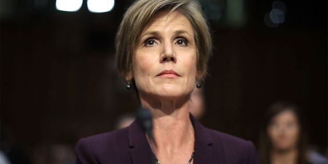 Former acting U.S. Attorney General Sally Yates testifies before the Senate Judiciary Committee's Subcommittee on Crime and Terrorism in the Hart Senate Office Building on Capitol Hill May 8, 2017 in Washington, DC.