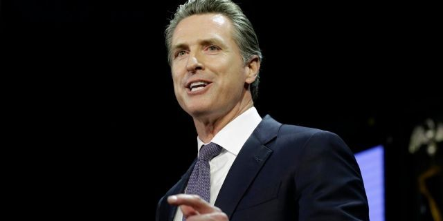 Lt. Gov. Gavin Newsom, a Democrat, addresses an election night crowd in Los Angeles, California after becoming the 40th governor of California on Nov. 6, 2018. (AP Photo/Rich Pedroncelli)