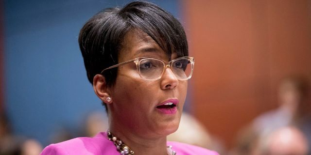 In this July 17, 2019, file photo, Atlanta Mayor Keisha Lance Bottoms speaks during a Senate Democrats' Special Committee on the Climate Crisis on Capitol Hill in Washington. (AP Photo/Andrew Harnik, File)