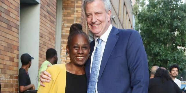 NEW YORK, NY - AUGUST 14: Chirlane McCray and Mayor of New York City and Presidential Candidate Bill de Blasio are seen on August 14, 2019 in New York City. (Photo by MediaPunch/Bauer-Griffin/GC Images)