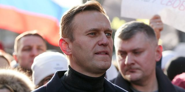 Alexey Navalny, Russian opposition leader, walks with demonstrators during a rally in Moscow, Russia, on Saturday, Feb. 29, 2019. ]Andrey Rudakov/Bloomberg via Getty Images