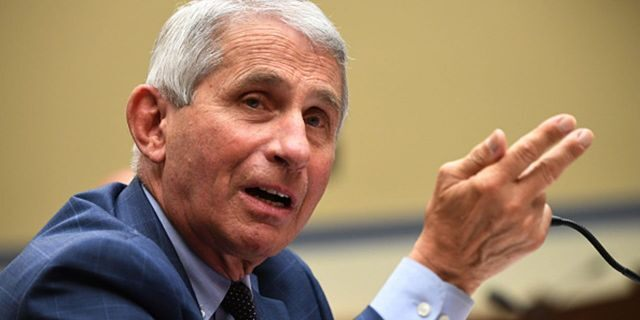 Dr. Anthony Fauci, director of the National Institute for Allergy and Infectious Diseases, testifies before a House Subcommittee on the Coronavirus Crisis hearing on July 31, 2020 in Washington, DC. Trump administration officials are set to defend the federal government's response to the coronavirus crisis at the hearing hosted by a House panel calling for a national plan to contain the virus. (Photo by Kevin Dietsch-Pool/Getty Images)