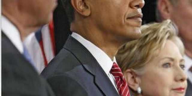 FILE: President-elect Obama announcing his national security team in 2008/AP